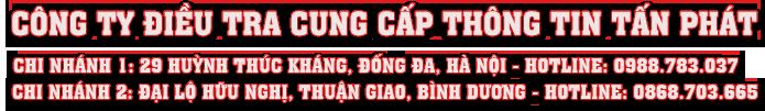 Cong ty tham tu Tan Phat